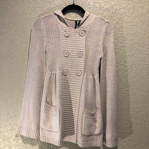 EUC Takeout double breasted hooded cardigan